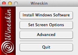 Wineskin Software in den Wrapper installieren