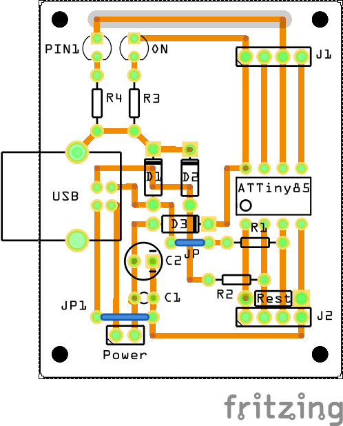 ATTINY_Board-2_Leiterplatte